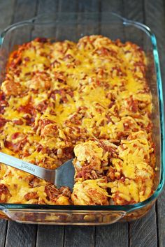 Bubble Up BBQ Chicken and Beans Bake - the flavors of barbecue, baked beans, bacon and cheese for 375 calories or 6 Weight Watchers Freestyle SmartPoints!