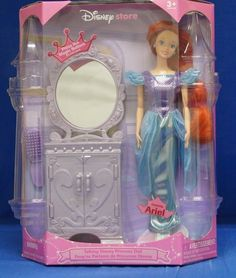 Disney Store Talking Ariel Little Mermaid Princess Doll & Mirrored Vanity  NIB #DisneyStore