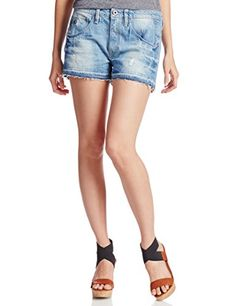 G-Star Raw Women's Arc Boyfriend Ripped Shorts. G-Star Raw Women's Arc Boyfriend Ripped Short, Light Aged Destroy, 25. Crafted from 10 ounce indigo denim with a green cast, and refined vertical slub lines in the denim face. Aged to lighten the denim's base shade, add destroy marks and bright fades.