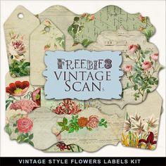 Far Far Hill: Freebies Vintage Style Labels