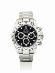 ROLEX. A STAINLESS STEEL AUTOMATIC CHRONOGRAPH WRISTWATCH WITH BRACELET