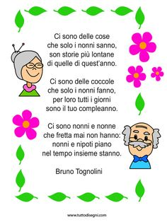 #Italian ~ rhyme-grandparents How To Speak Italian, Italian Lessons, Italian Phrases, Rhymes For Kids, Italian Language, Learning Italian, Grandparents Day, Infant Activities, Nursery Rhymes