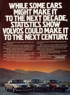 Vintage volvo ads
