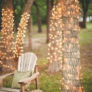 great idea for an outdoor nighttime wedding! :) -- even for an outdoor reception