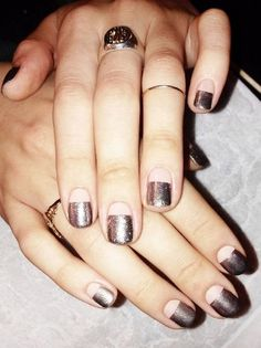 Pale pink and gunmetal