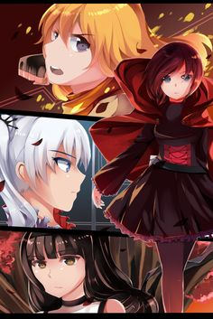 This RWBY Poster was made by Ryo-Thae it shows the whole RWBY Team. Please go check out other works of art of theirs on Deviant Art. Rwby Anime, Rwby Fanart, Rwby Poster, Red Like Roses, White Roses, Rwby Volume, Blake Belladonna, Team Rwby, Red Vs Blue