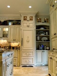 French Country traditional kitchen