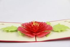 High End 3D Stereoscopic Greeting Cards Peony Flowers Mother's Day Handmade…