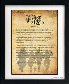 Wizard of Oz Dorothy Quote Art Book Print - A3 or A4 Large Vintage Page Effect Wall Quote.. £13.99, via Etsy.