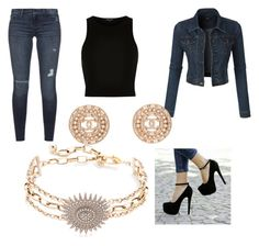 denim by shyshy02 on Polyvore featuring polyvore, fashion, style, River Island, LE3NO, Black Orchid, Lulu Frost, Chanel and clothing