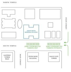 SLC Parking can be difficult when you're in a hurry. Temple Square Hospitality offers Joseph Smith Memorial Building parking conveniently for you! Salt Lake County, Temple Square, Joseph Smith, Tower Building, State Street, Memories, Map, Reception, Wedding Ideas
