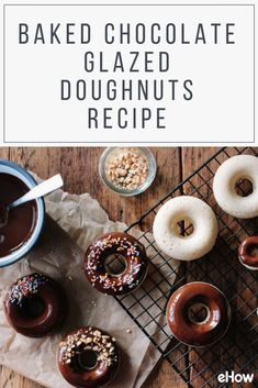 These doughnuts are baked, not fried, so they're not off-limits for breakfast. And you can top them off with an incredibly simple, chocolate glaze.