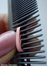 Image result for paper quilling comb technique