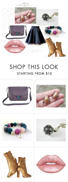 """""""Happy !"""" by isabellwoolstudio ❤ liked on Polyvore featuring Humör, Gianvito Rossi and Lime Crime"""