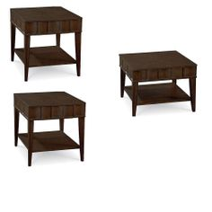 Thomasville Furniture Blueprint set of 2 end tables and Bunching cocktail table
