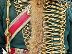 Ornate Military Uniform by Rosamund Parkinson, via Dreamstime - Napoleontic,  Hussar