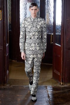 Alexander McQueen Fall 2013 Menswear Collection Slideshow on Style.com