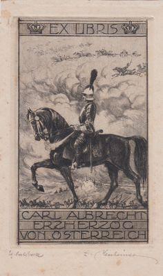 Bookplate Carl Albrecht Erzherzog von Österreich