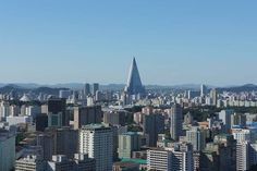 Pyongyang skyline on a clear day. DPRK North Korea
