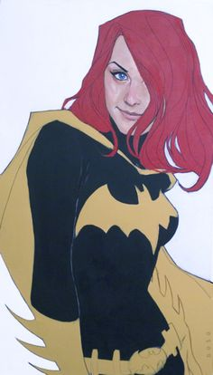 The ultimate superhero librarian... Barbara Gordon (AKA Batgirl) -- Head Librarian.    Barbara Gordon by Phil Noto philnoto.tumblr.com