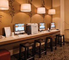 Fresh and Contemporary Business Centre Interior Design of Hotel Adagio, San Francisco