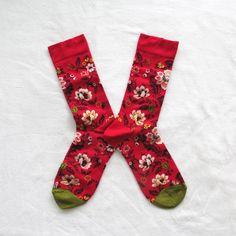 Chaussettes Bonne Maison / Bonne Maison socks - Brocart Géranium