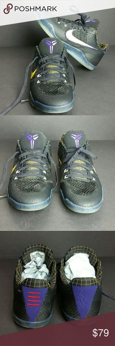 NIKE KOBE ELITE 11 XI LOW MEN'S SHOES IN GOOD CONDITION   SKE # UTPO NIKE Shoes Athletic Shoes