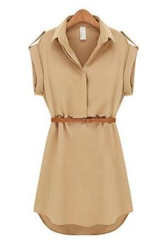 Lovely Tan Tunic Top or Dress - Add leggings, riding boots, and a cute sweater for a Fall Layered Look!