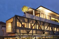 Clever Semi-Detached House With Elongated Volumes in Singapore
