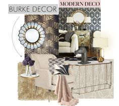 """Modern Deco with Burke Decor"" by yoshigirl28 on Polyvore"