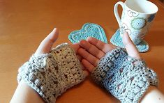 Double Crochet, Single Crochet, Wool Yarn, Merino Wool, Fingering Yarn, Mittens Pattern, Fingerless Mittens, Yarn Colors, Hand Warmers