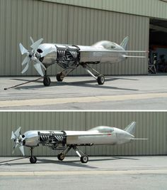 """Looks like Aben Jamal's futuristic aircraft from the """"Crash Ryan"""" comics. -i cant figure out the propellors but the cockpit placement is soo cool looking. Nice find Nick."""