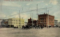 Circa 1865 Northwest Corner of Public Square - Belleville Illinois