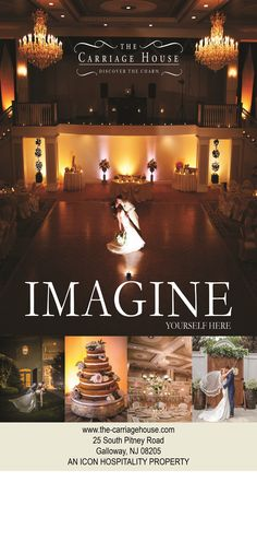 The Carriage House celebrates each couple's unique story.  Our venue offers indoor and outdoor venues and menus to delight the most discerning palates.  Our experts understand that planning is simply the first step to bringing your vision to life.   From 75 guests to 300 in our majestic ballroom, our experienced and passionate team of professionals will personally attend to every detail.  Call 609-748-2400 ext. 101 or 111 to turn your dream wedding into a reality.