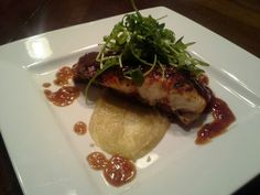 Bbq snapper with yam puree