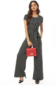 411a43248ae Striped Self-Tie Jumpsuit Pant Jumpsuit