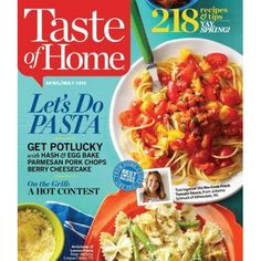 Taste of Home Magazine Subscription : $6.97 (reg. $16.99)  http://www.mybargainbuddy.com/taste-of-home-magazine-subscription-6-25