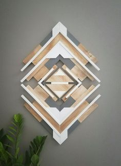 One Of A Kind - Reclaimed Wood Wall Art - Handmade - Geometric - Southwestern - Aztec - Abstract - Home Decor - Ready to Ship- FREE SHIPPING