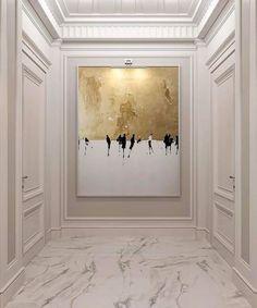 Modern Design and Living Homedecor. Deco Design, Wall Design, House Design, Hallway Art, Entry Hallway, Jugendstil Design, Hallway Designs, Interior Decorating, Interior Design