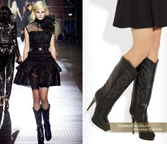 Lanvin cowgirl high heel boots!