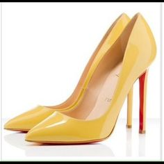 """Yellow Fashion Pointed Red bottom high heels Yellow Thin Heel Pointed Women's Pumps High Heels Red Bottom Vintage Sexy Shoes for Women  Closed Toe Platform Hight:0.5 inch  Closure Type:Slip-On  Toe Shape:Pointed Toe  Upper Material:PU  Insole Material:EVA  Heel Height:High (3"""" and up)  Outsole Material:Rubber  Lining Material:PU  Pump Type:Basic  Heel Shape:Spool Heels  Heel Type:Thin Heels  .  #Yellowpumps ,#closedtoe,#redbottomshoes,#highheels Shoes Heels"""