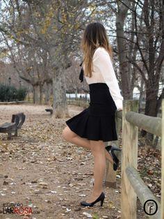 White Blouse-Black Skirt   One Use Fashion
