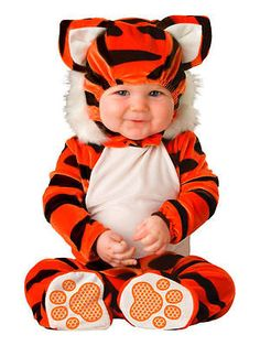 Other Baby and Toddler Clothing 1070: Lil Characters Unisex Baby Newborn Tiger Costume Orange Black White 6-12 Months -> BUY IT NOW ONLY: $34 on eBay!