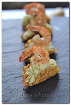 Bouchées de pommes de terre et crevettes - cuisine de Fadila