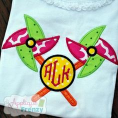 Crossed Pinwheel Monogram Applique - 2 Sizes! | What's New | Machine Embroidery Designs | SWAKembroidery.com Applique Frenzy
