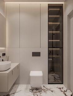 "INTERIOR PORN on Twitter: ""Light interior bathrooms like this is spectacular… "" Washroom Design, Bathroom Design Luxury, Modern Bathroom Design, Wc Design, Toilet Design, Design Ideas, Home Room Design, Home Interior Design, Minimalist Toilets"