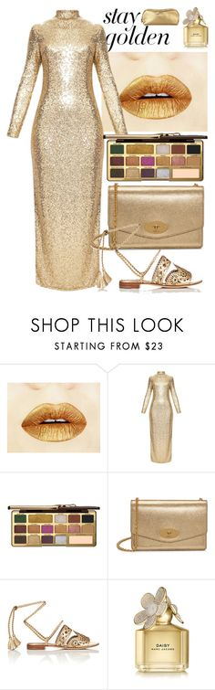 """""""Golden Girls: Gold Beauty"""" by swimwearlover on Polyvore featuring Too Faced Cosmetics, Mulberry, Alberta Ferretti, Marc Jacobs and Rodo"""