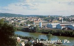 Modern day view of Vandergrift from the river. This town is the inspiration for the town the girls grew up in. Readers will learn that John was killed near the foundry, which is by the river (seen here).
