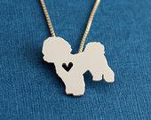 Bloodhound necklace tiny sterling silver hand by JustPlainSimple