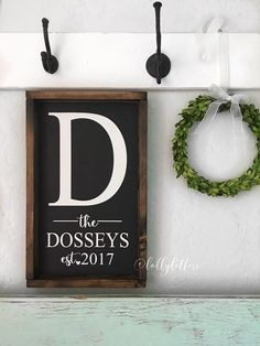 Pretty Established Family Sign, perfect to display year round!